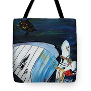 Windsurfing And Sea Turtle Tote Bag