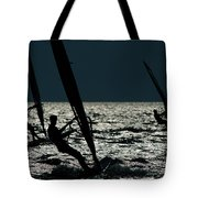 Windsurfing At Cape Hatteras National Tote Bag