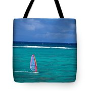 Windsurfing In Clear Ocea Tote Bag