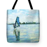 Windsurfing In The Bay Tote Bag