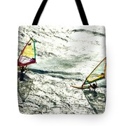 Windsurfing Silver Waters Tote Bag