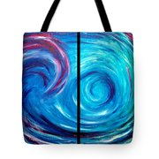 Windswept Blue Wave And Whirlpool 2 Tote Bag