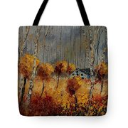 Windy Autumn Landscape  Tote Bag