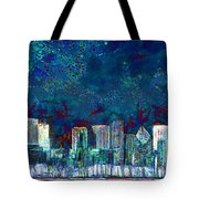 Windy Chicago Illinois Skyline Party Nights 20180516 Tote Bag
