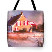 Windy Cold Sunny Day Tote Bag