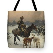 Windy Day By Alfred Wierusz-kowalski Tote Bag