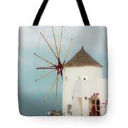 Oia Windmill  Tote Bag