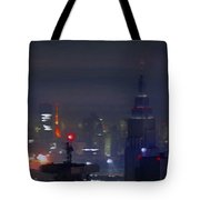 Windy Night Lights Abstract Tote Bag