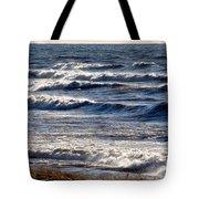 Windy Spring Lake Huron Tote Bag