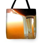 Wine And Candle Tote Bag