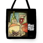 Wine And Cheese Imported Meal Tote Bag