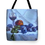 Wine And Fresh Fruits Tote Bag