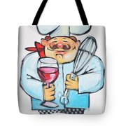 Wine And Wisk Chef Tote Bag