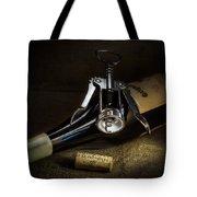 Wine Bottle, Corkscrew And Cork Tote Bag