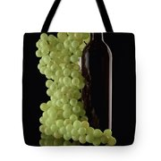 Wine Bottle With Grapes Tote Bag by Tom Mc Nemar