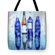 Wine Bottles Reflection  Tote Bag