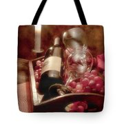 Wine By Candle Light II Tote Bag by Tom Mc Nemar