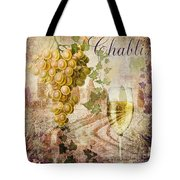 Wine Country Chablis Tote Bag