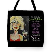 Wine For Lunch Poster Tote Bag