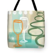 Wine For Two Tote Bag by Linda Woods