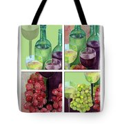 Wine From Grapes Collage Tote Bag