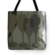 Wine Glass Abstract Tote Bag