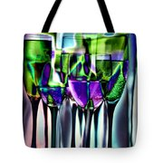 Wine Glasses With Colorful Drinks  Tote Bag