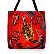 Wine Jazz Tote Bag