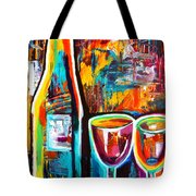 Wine Lovers Abstract Tote Bag