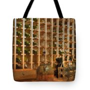 Wine Rack Vineyard Fermentation   Tote Bag