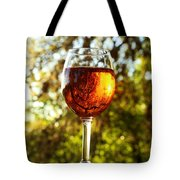 Wine Reflections Square Tote Bag