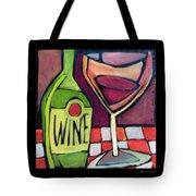 Wine Squared Tote Bag