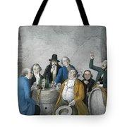 Wine Tasters In A Cellar Tote Bag