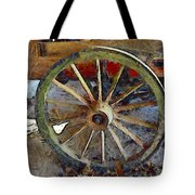 Wine Wagon Wheel Tote Bag