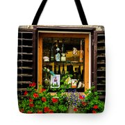 Wine Window Tote Bag