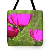 Winecup Flowers In Sunlight Tote Bag
