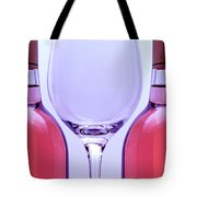 Wineglass And Bottles Tote Bag