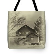 Winery In Sepia Tote Bag