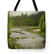 Winery River Tote Bag