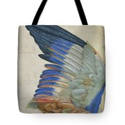 Wing Of A Blue Roller Tote Bag