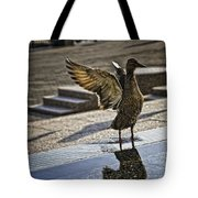 Winged Bird Tote Bag