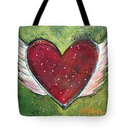Winged Heart Number 1 Tote Bag