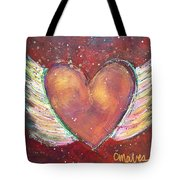 Winged Heart Number 2 Tote Bag