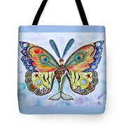 Winged Metamorphosis Tote Bag by Lucy Arnold