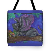 Winged Panther Kitten Cub Tote Bag