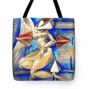 Winged Space Tote Bag