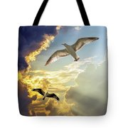 Wings Against The Storm Tote Bag