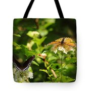 Wings And Blooms Tote Bag