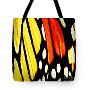 Wings Of A Monarch Butterfly Abstract Tote Bag
