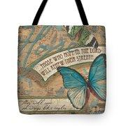 Wings Of Hope Tote Bag by Debbie DeWitt